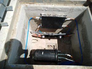 Arqueta DF con multiducto para fibra óptica